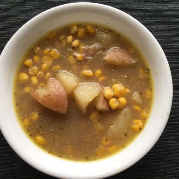 Receita de Chowder de Batata e Milho (Freezer Dump Meal)