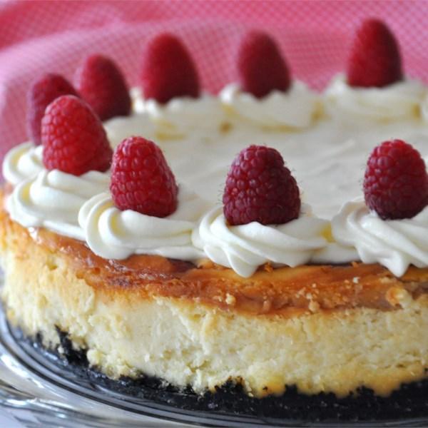 Receita de Cheesecake de Framboesa de Chocolate Branco