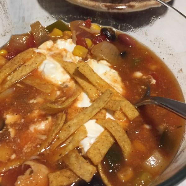 Receita de Sopa de Taco de Frango de Panela Lenta