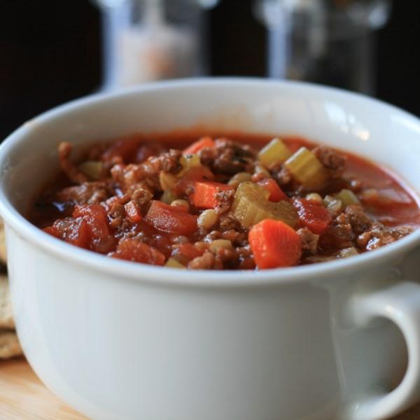 Receita de Sopa de Hambúrguer de Pote Instantâneo (R)