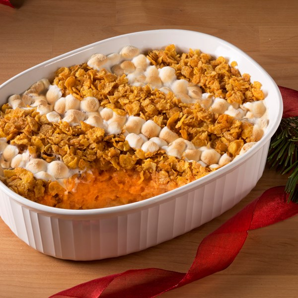 Receita de Caçarola de Batata Doce marshmallow & cornflake