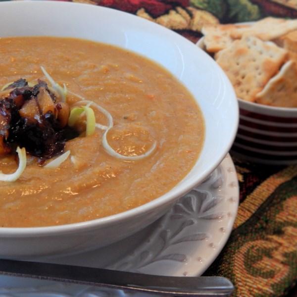 Receita de Sopa de Alho-poró de abóbora