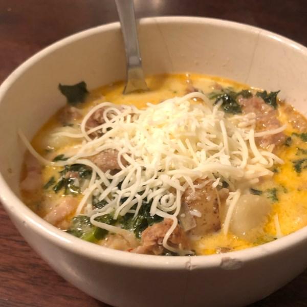 Receita de Salsicha Italiana Rica e Sopa de Batata