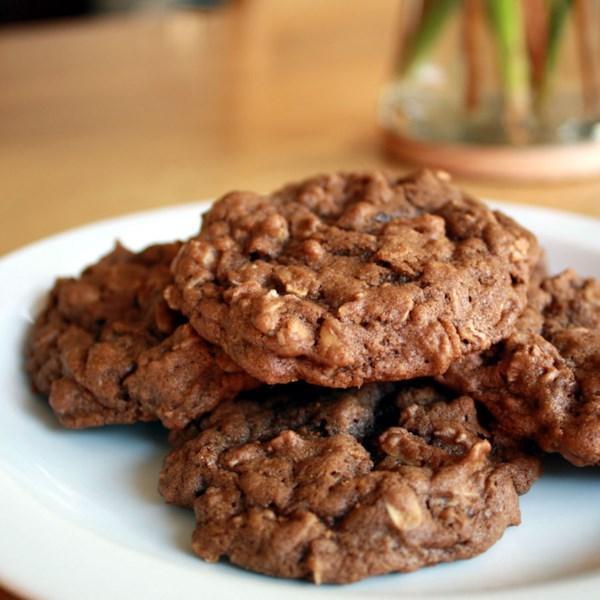 Receita de Biscoitos de Aveia de Chocolate