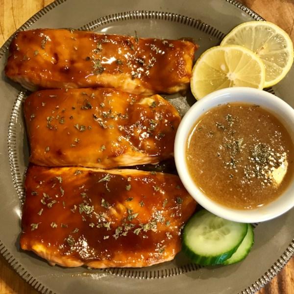 Miso Salmon com Receita de Manteiga de Saquê