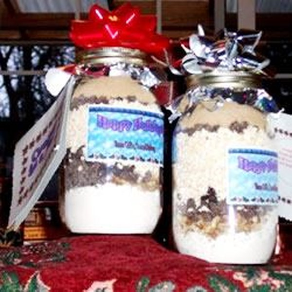 Candy Coated Chocolates Gift Jar Cookie Mix Recipe