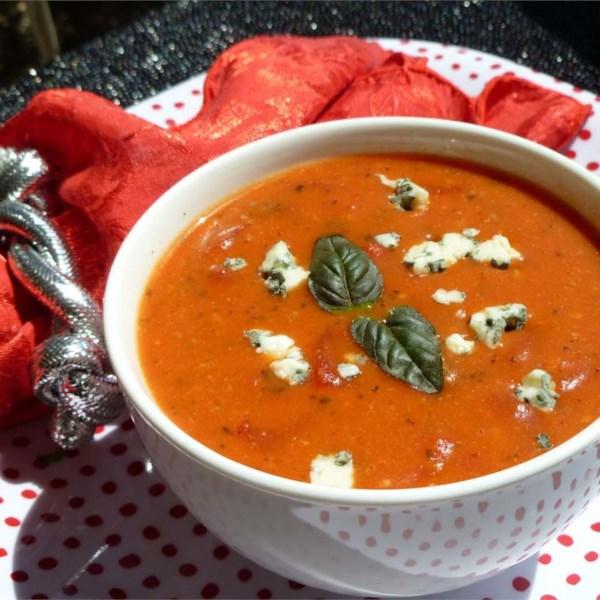 Receita de Sopa de Creme de Tomate Gorgonzola