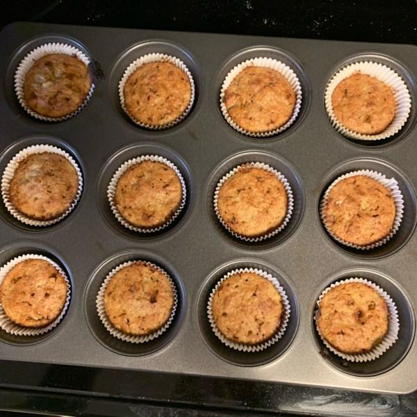 Receita de Muffins de Farelo de Banana