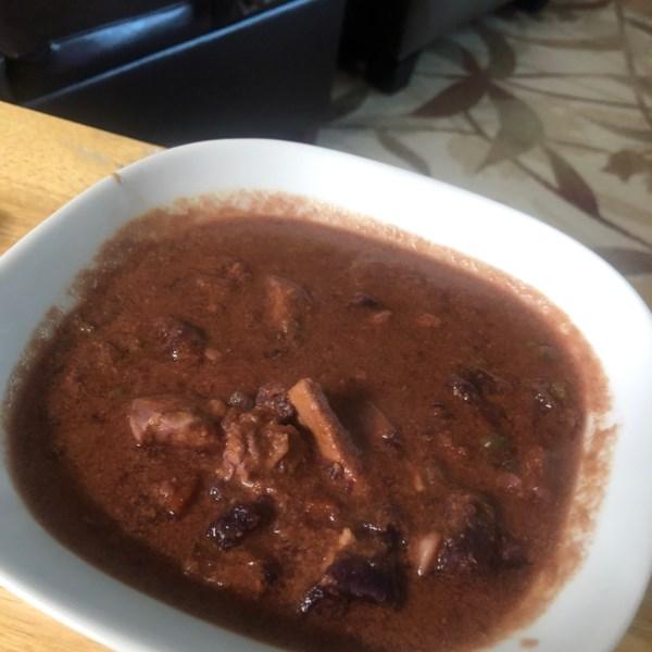 Pote instantâneo tailandês curry vermelho com receita de frango