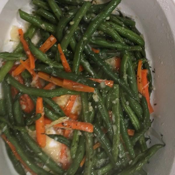 Feijão Verde Italiano com Receita de Queijo Azul