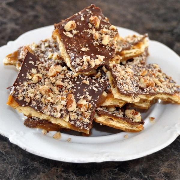 Receita de Biscoitos de Toffee saltine