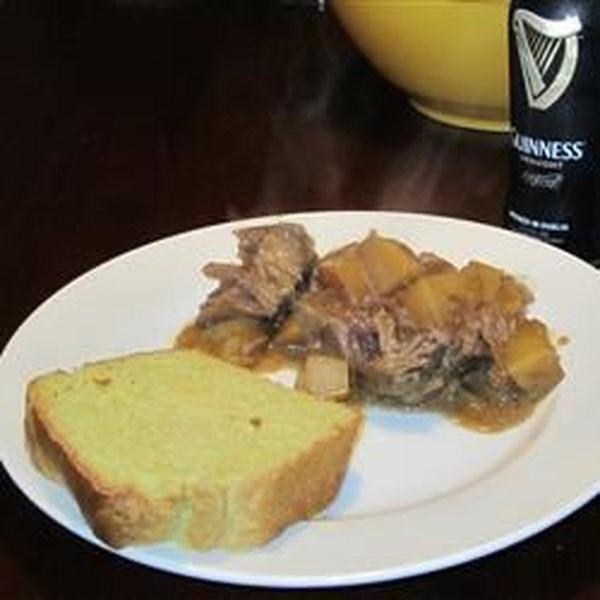 Receita irlandesa de assado de pote de cerveja Stout