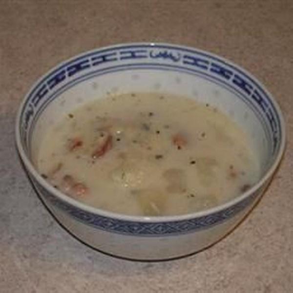Receita de Sopa de Batata Parmesão