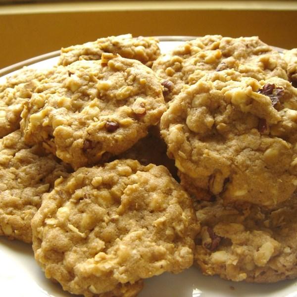 Receita de Biscoitos de Aveia de Chocolate Branco