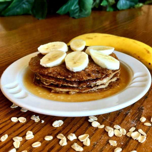 Receita de Panquecas de Aveia-Banana