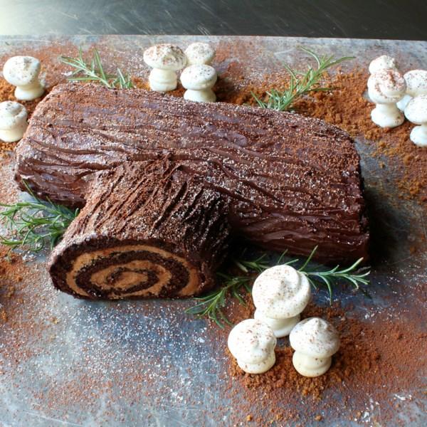 Receita de Log de Yule de Chocolate