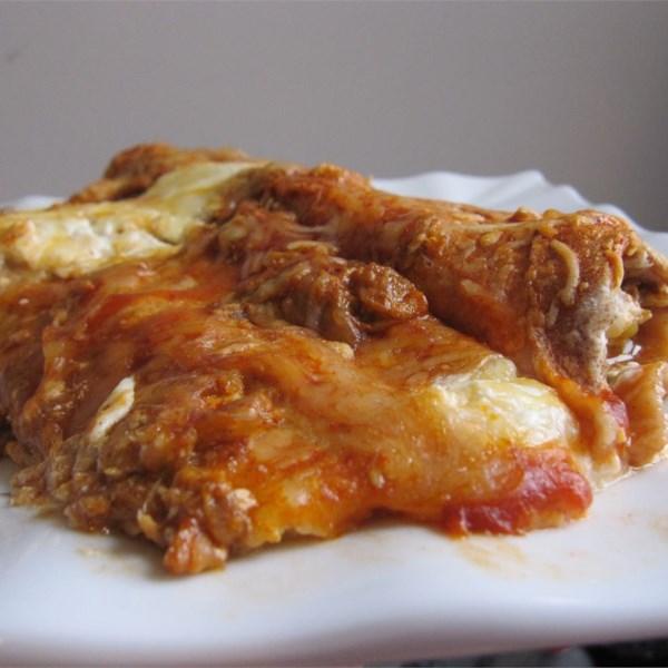 Receita de Enchiladas de Frango de Queijo Cottage