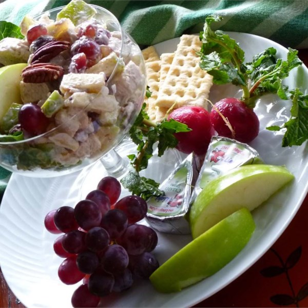 Receita de Salada de Frango Com Frutas Fáceis