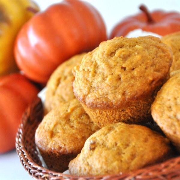 Receita de Muffins de Mel de Trigo de Abóbora
