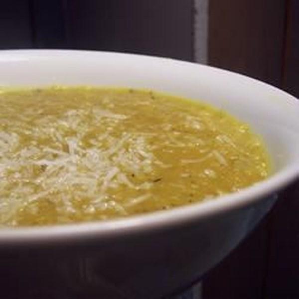 Receita de Sopa de Lentilha de Coco