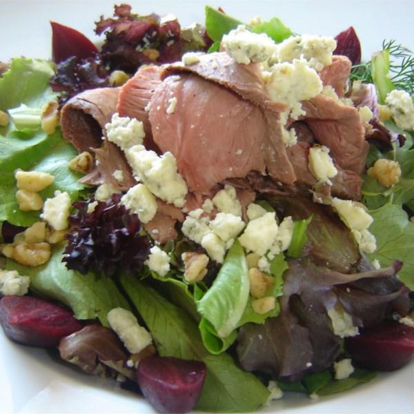Receita de Salada de Bife e Espinafre