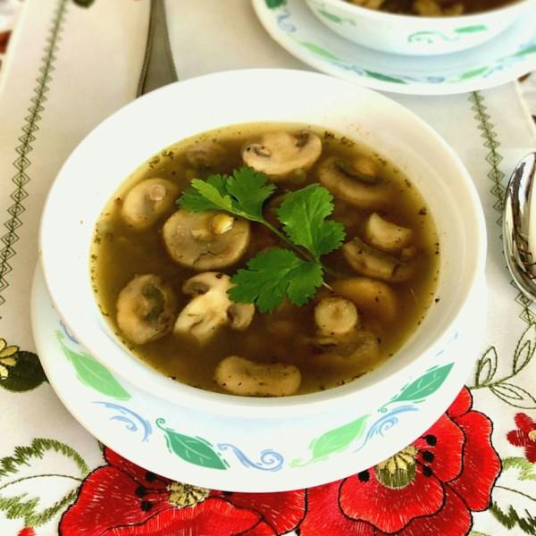 Receita de Sopa de Lentilha com Cogumelos