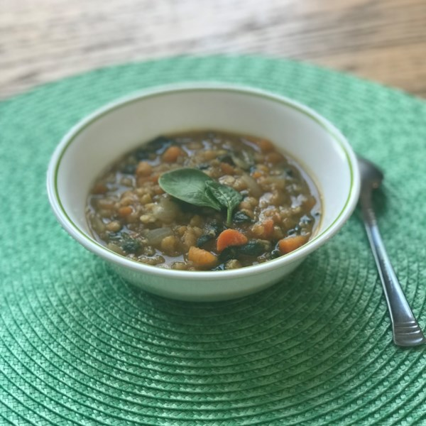 Receita de Sopa de Batata Doce e Lentilha Vermelha