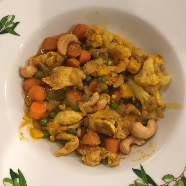 Receita de Frango Cauliflower Korma