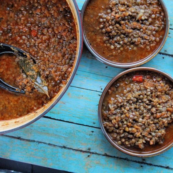 Receita de Sopa de Lentilha Grega (Falsificações)