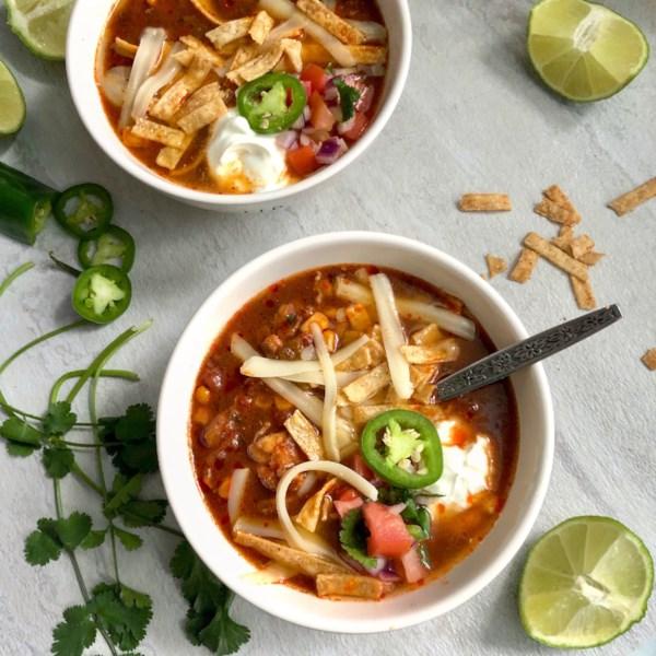 Receita de Sopa de Panela Lenta de Frango Enchilada