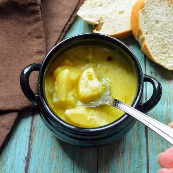 Receita de Sopa de Alho-poró de Batata III