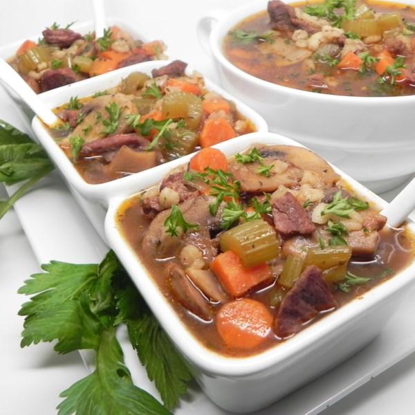 Receita de Sopa de Carne e Cevada Instantânea