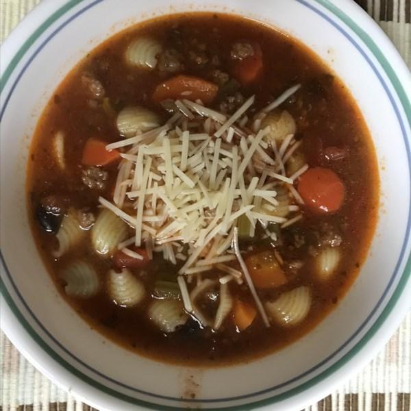 Panela de Pressão Minestrone Sopa com Receita de Carne