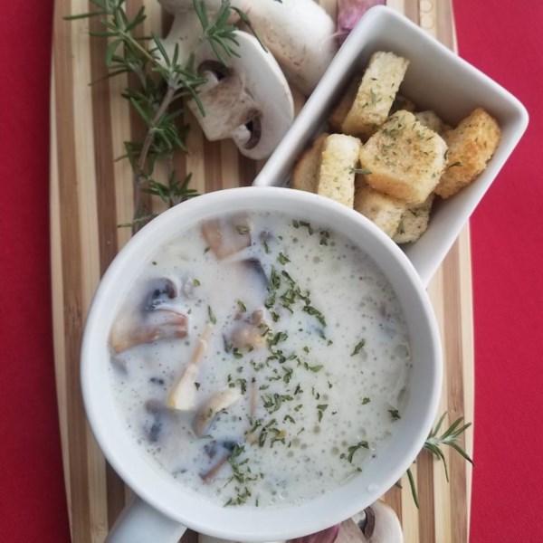 Receita de Sopa de Cogumelo Assado