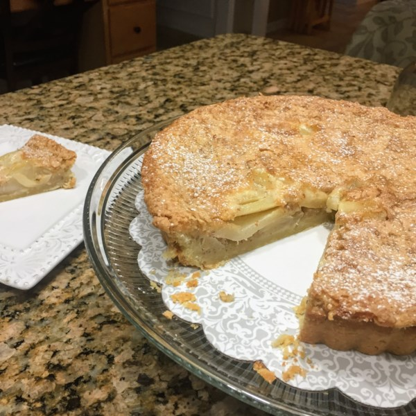 Receita frangipana de torta de pera