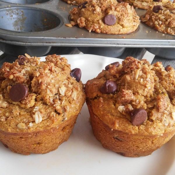 Receita de Muffins de Abóbora-Banana-Aveia