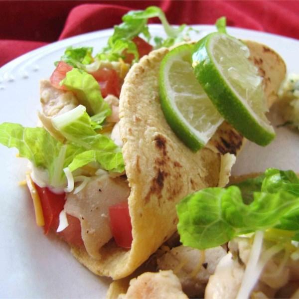 Receita de Tacos Macios de Frango Limão