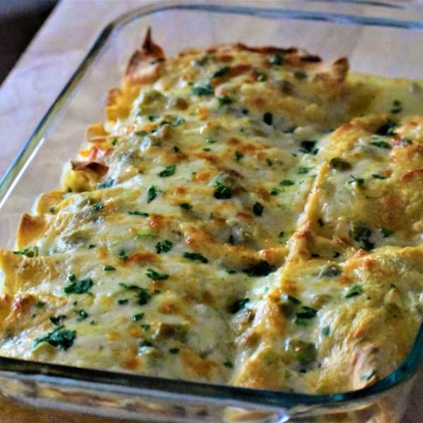 Receita de Frango Enchiladas com Molho Verde Chile (Salsa Verde)