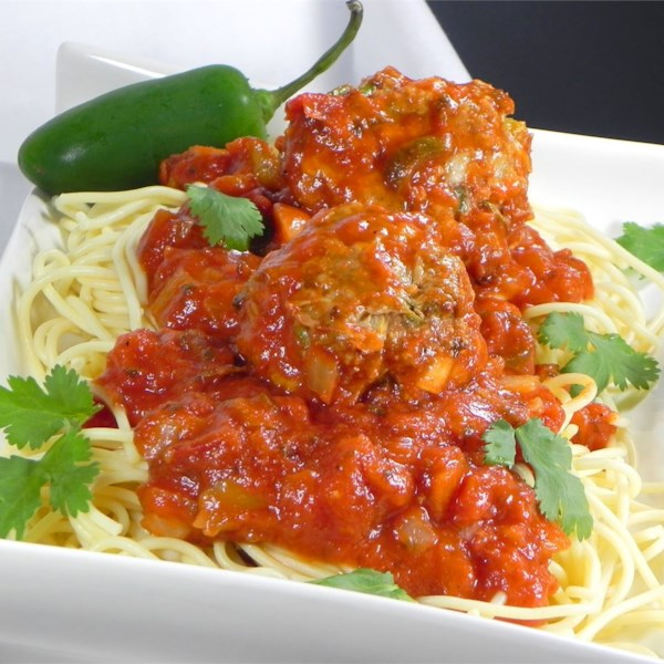 Receita de Espaguete e Almôndegas ao estilo mexicano