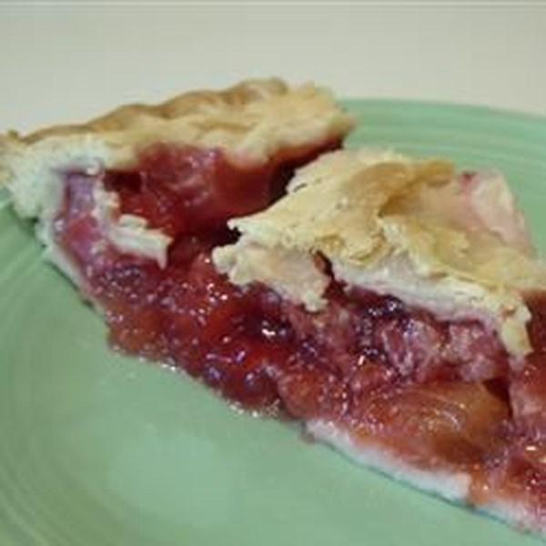 Receita favorita de torta de ruibarbo de morango