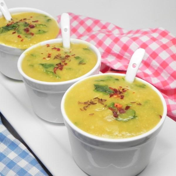 Receita Vegetariana Palak Moong Dal