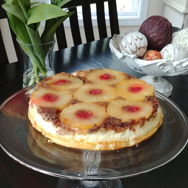 Receita de Cheesecake de abacaxi de cabeça para baixo