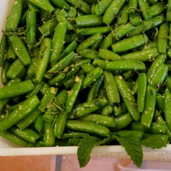 Ervilhas de Açúcar Snap com Receita de Hortelã