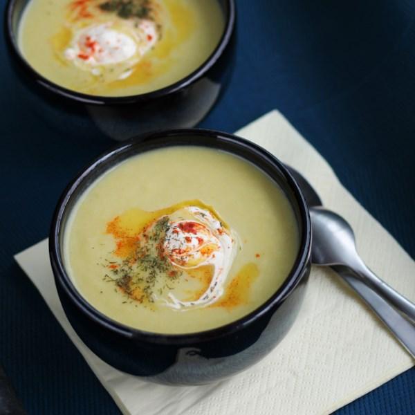 Receita de Aspargos, Alho-poró e Sopa de Batata