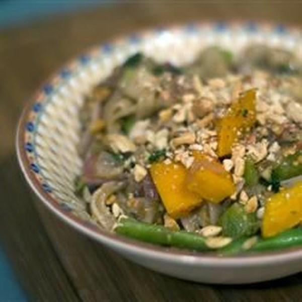 Receita de Fritura de Macarrão de Amendoim Tailandês