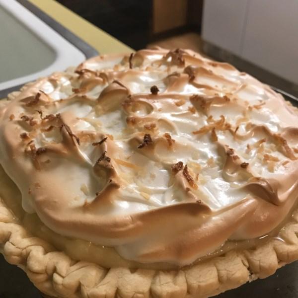 Receita de Torta de Merengue de Creme de Coco