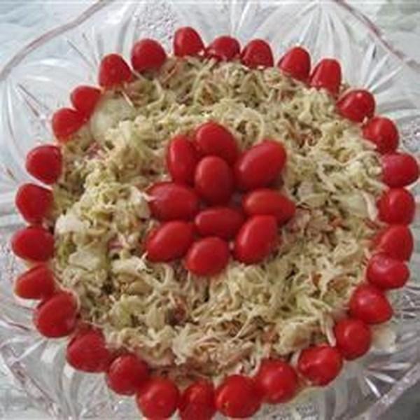 Receita de Salada de Slaw Vermelha, Branca e Azul
