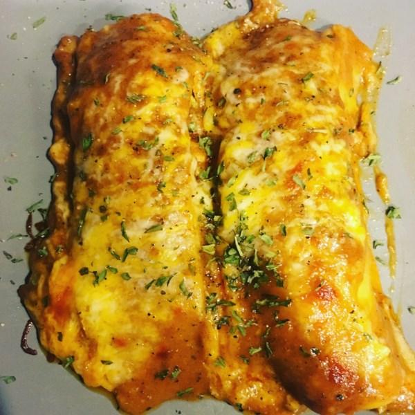 Receita de Enchiladas de Frango Bacon-Ranch