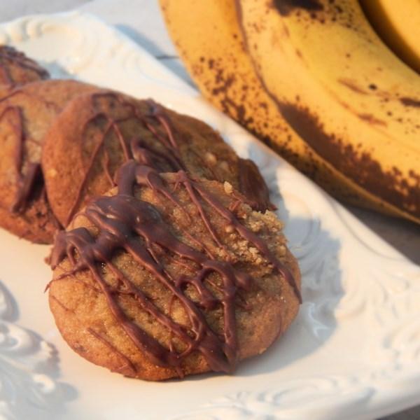 Receita de Biscoitos de Banana de Manteiga de Amendoim