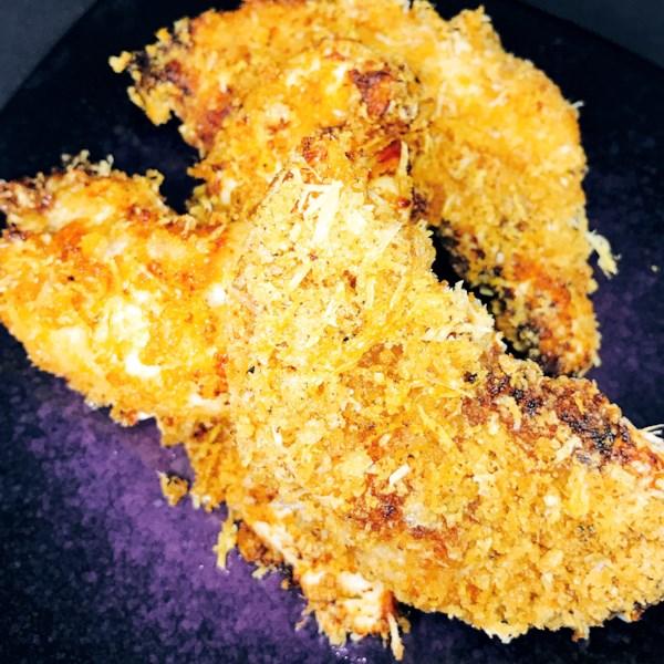 Frango frito de Keto Crocante na Receita de Fritadeira de Ar